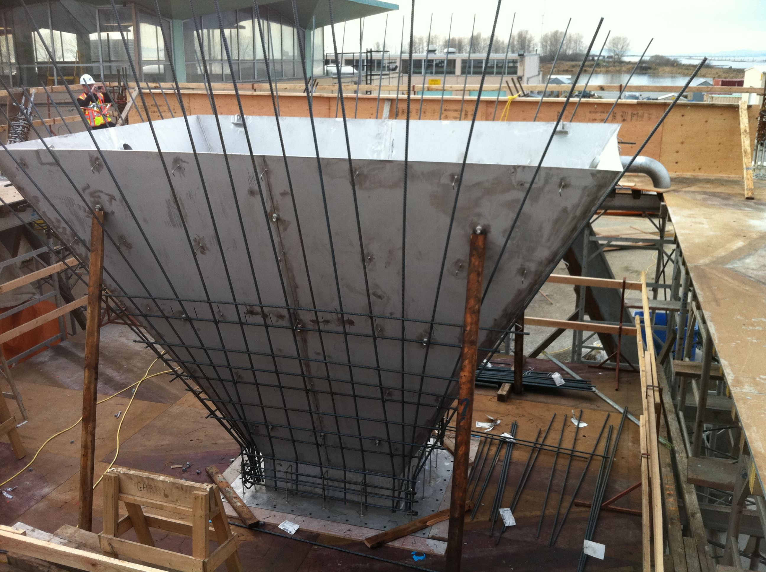 iona island wastewater treatment plant  u2013 grit tower replacement